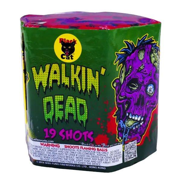 Walking Dead 19 Shot 200 Gram Multishot Aerial Repeater Black Cat Firework at Wholesale Fireworks in Warrenton MO